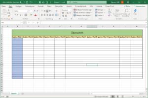 Excel - Tabellen formatieren
