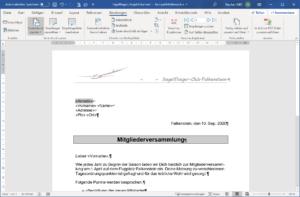 Serienbrief-Erstellung